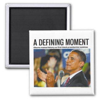 Imán de definición del momento de Obama