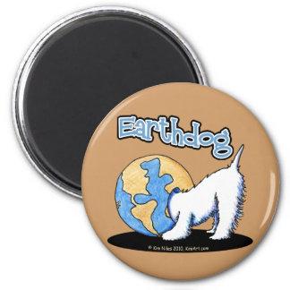 Imán de Earthdog Westie del tono de la tierra
