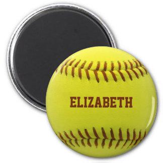 Imán de encargo de la bola del softball