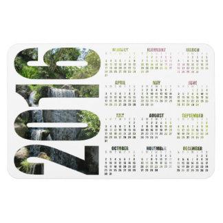 Imán de encargo del calendario de la foto - color