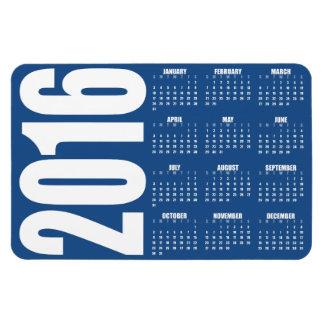 Imán de encargo del calendario del color 2016