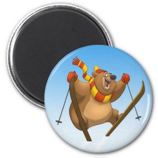 Imán de esquí del oso