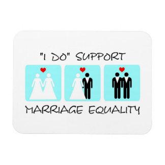 Imán de Flexi de la igualdad de la boda de la ayud