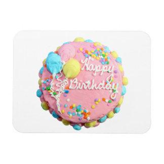 Imán de Flexi de la torta del feliz cumpleaños