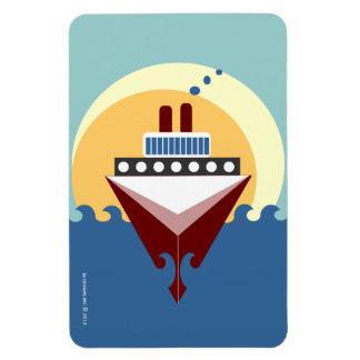 Imán de Flexi del barco de cruceros de la puesta d