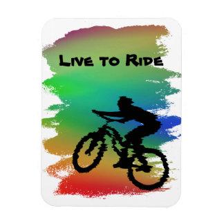 Imán de Flexi del ciclista del arco iris