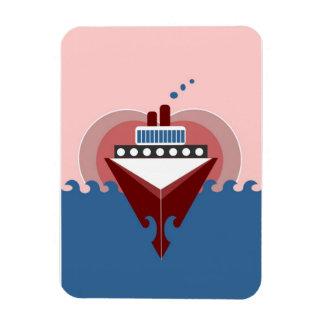 Imán de Flexi del corazón del amor del barco de cr