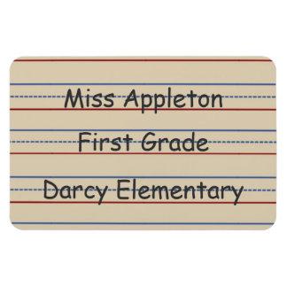 Imán de Flexi del papel de escuela primaria