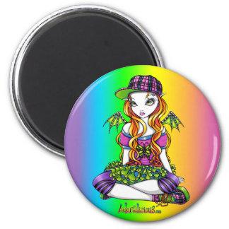 Imán de hadas del arte del arco iris del Punky de