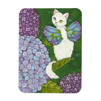 Imán de hadas Moussart del gato floral del Hydrang