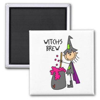 Imán de Halloween del Brew de la bruja