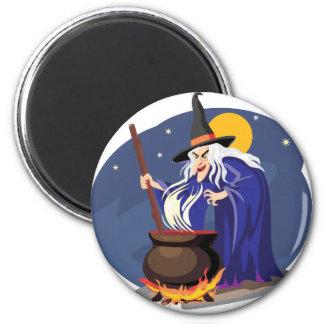 Imán de Halloween del Brew de las brujas