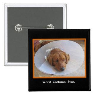 Imán de Halloween del cono del perro Pin Cuadrada 5 Cm
