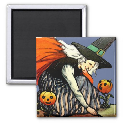 Imán de Halloween del vintage