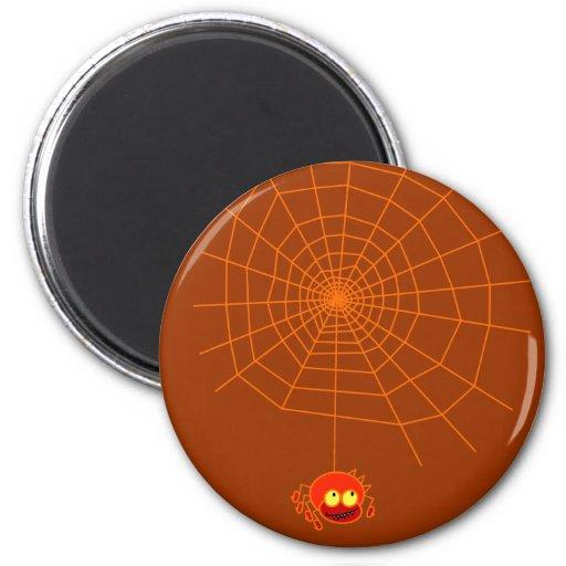 Imán de Halloween del Web de araña