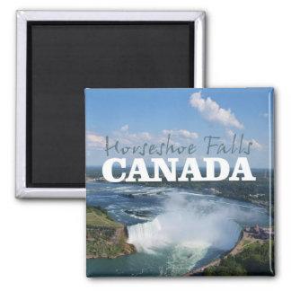 Imán de herradura del recuerdo del viaje de Canadá