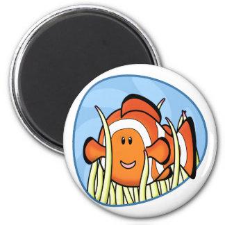 Imán de Kawaii Clownfish
