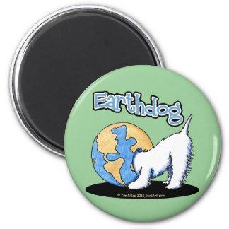 Imán de KiniArt Earthdog Westie