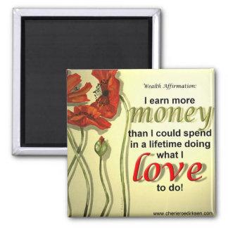 Imán de la afirmación del dinero