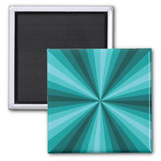 Imán de la aguamarina de la ilusión óptica