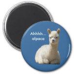 Imán de la alpaca de Ahhhh