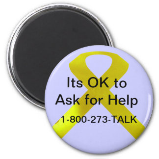 Imán de la ayuda de la conciencia del suicidio