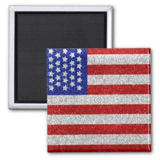 Imán de la bandera americana del vintage