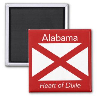 Imán de la bandera de Alabama
