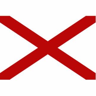 Imán de la bandera de Alabama cortado Escultura Fotografica