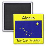 Imán de la bandera de Alaska