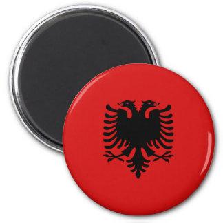 Imán de la bandera de Albania Fisheye