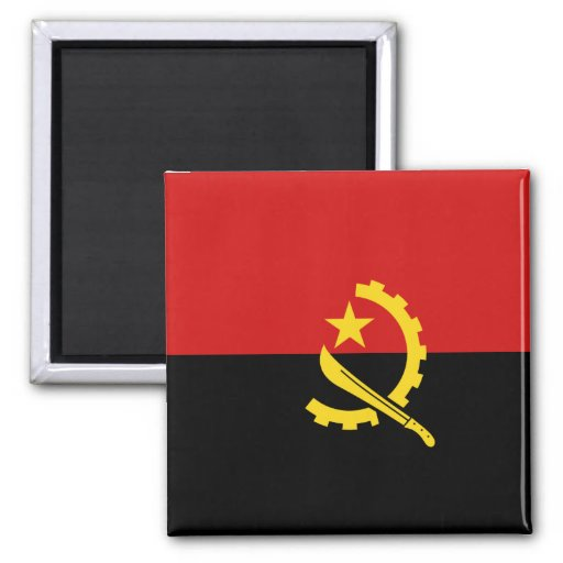 Imán de la bandera de Angola