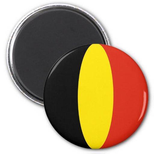 Imán de la bandera de Bélgica Fisheye