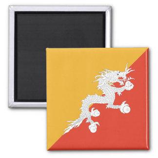 Imán de la bandera de Bhután