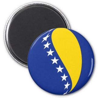 Imán de la bandera de Bosnia y Hercegovina Fisheye