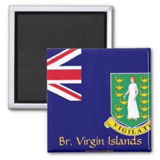 Imán de la bandera de British Virgin Islands