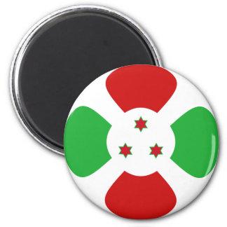 Imán de la bandera de Burundi Fisheye