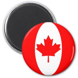 Imán de la bandera de Canadá Fisheye