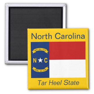 Imán de la bandera de Carolina del Norte