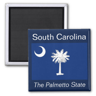 Imán de la bandera de Carolina del Sur