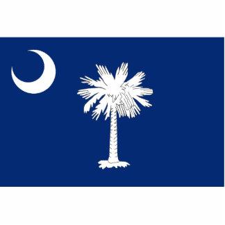 Imán de la bandera de Carolina del Sur cortado Esculturas Fotográficas