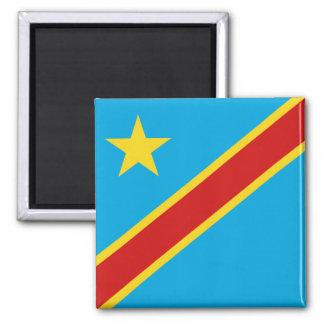 Imán de la bandera de Congo-Kinshasa