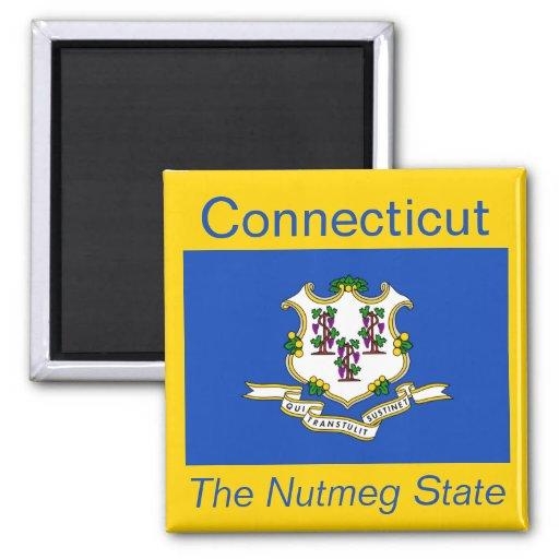 Imán de la bandera de Connecticut
