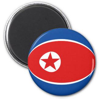 Imán de la bandera de Corea del Norte Fisheye