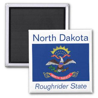 Imán de la bandera de Dakota del Norte
