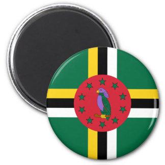 Imán de la bandera de Dominica