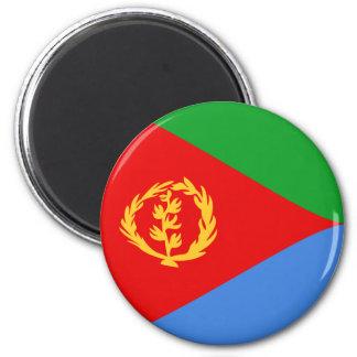 Imán de la bandera de Eritrea Fisheye