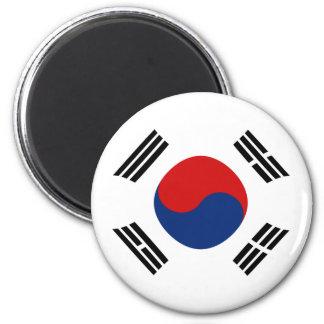 Imán de la bandera de Fisheye de la Corea del Sur