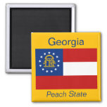 Imán de la bandera de Georgia