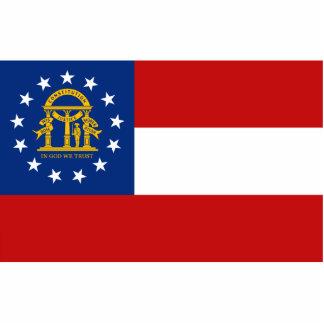 Imán de la bandera de Georgia cortado Esculturas Fotográficas